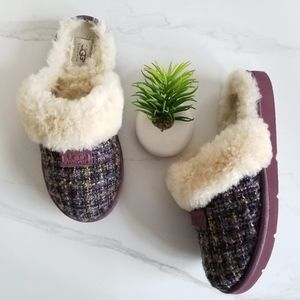 Ugg Australia Scuffette Purple Tweed Slipper Shoes
